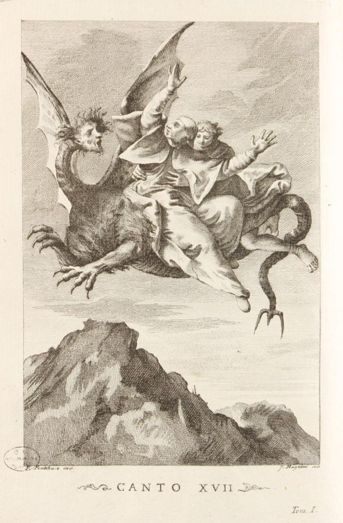 Francesco Fontebasso, Dante et Virgile sur le dos de la Fraude