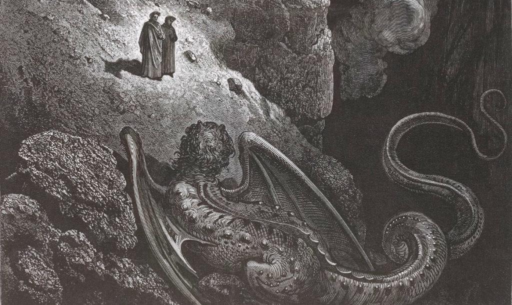 """""""Le monstre de la Fraude"""". Dante illustré par Gustave Doré"""